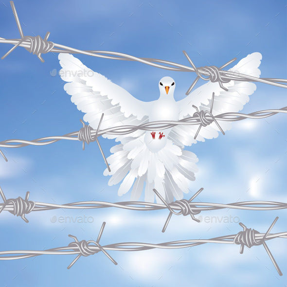 Dove and Barbed Wire - Animals Characters