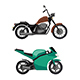 Motorcycle Icons Set - GraphicRiver Item for Sale