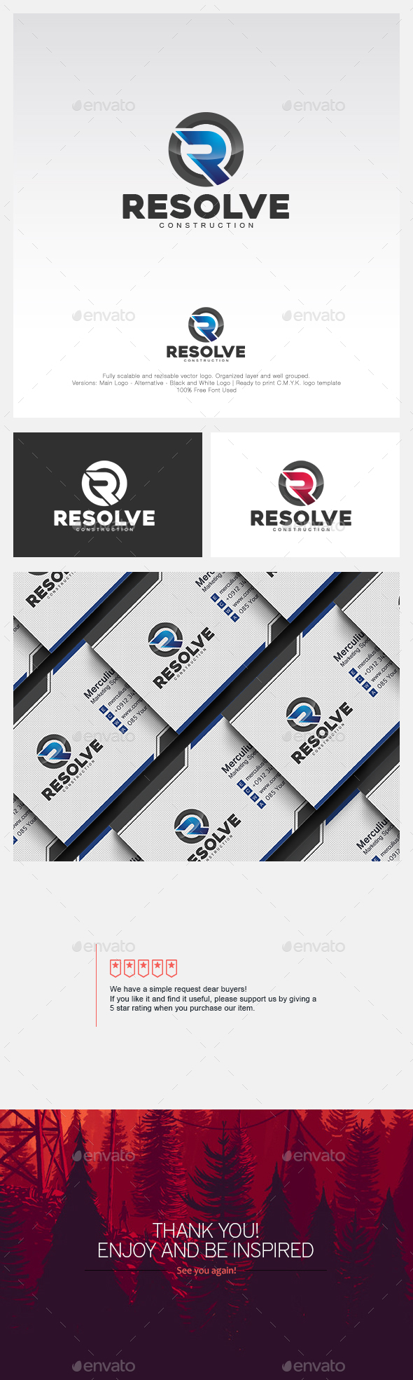 Resolve Logo - Letters Logo Templates