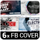 6 Music Event Facebook Timeline Covers vol.4 - GraphicRiver Item for Sale