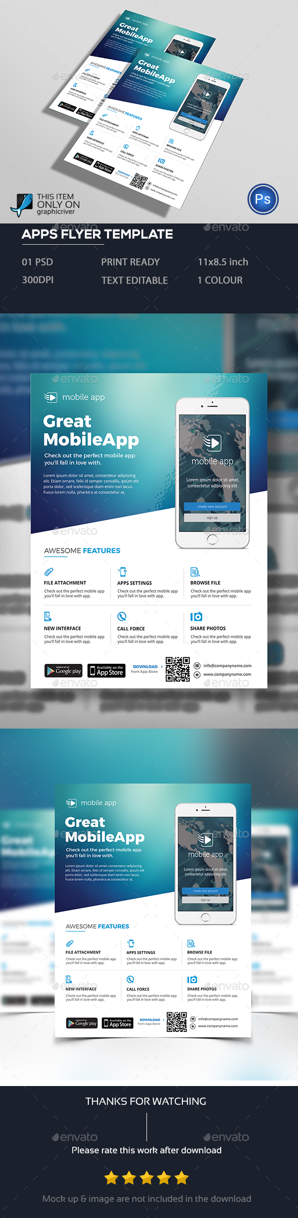Mobile Apps Flyer - Commerce Flyers