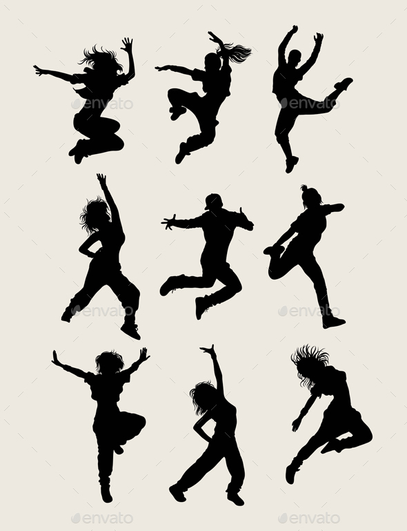 Modern Dancer Silhouettes - Sports/Activity Conceptual