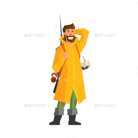 Male Adventurer with Fishing Equipment - People Characters