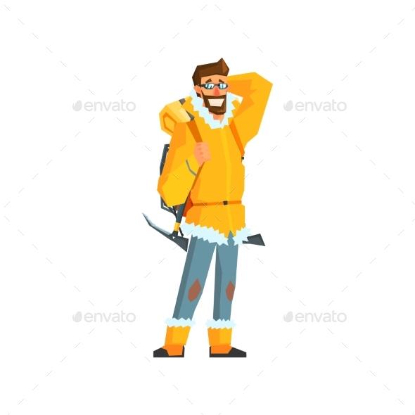 Mountaineer with Pickaxe - Travel Conceptual