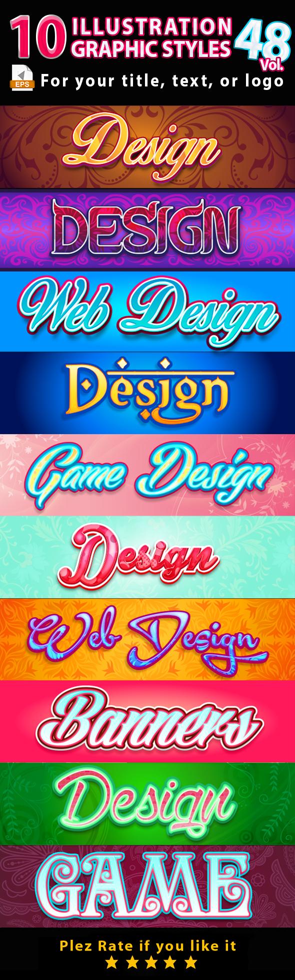 10 Illustrator Graphic Styles Vol.48 - Styles Illustrator