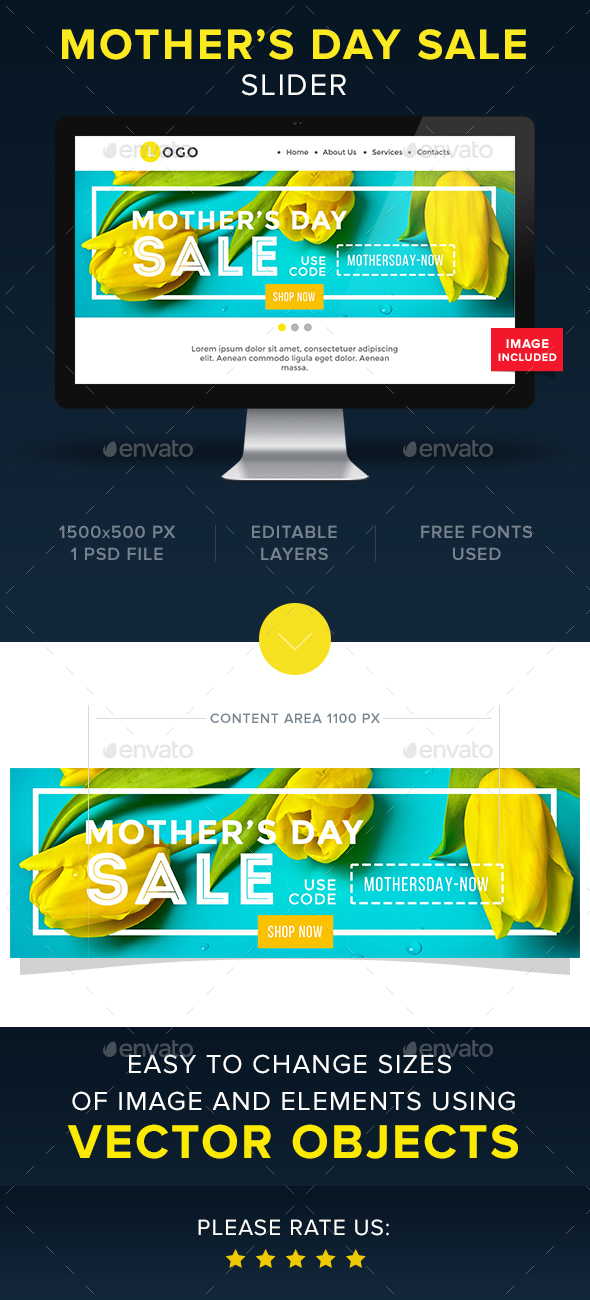 Mother's Day Sale Slider - Sliders & Features Web Elements