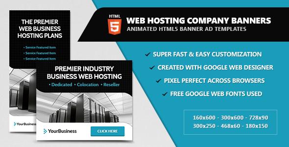 Web Hosting Company Banners - HTML5 Animated by InfiniWeb | CodeCanyon