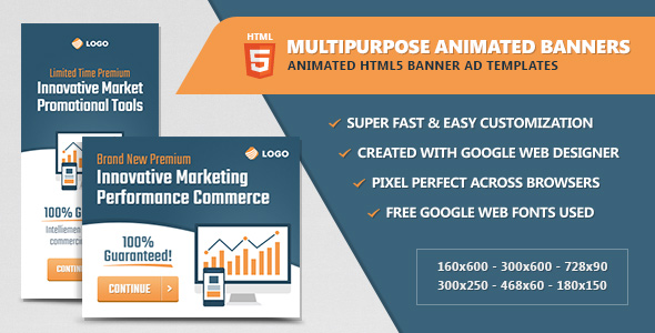 Multipurpose Animated HTML5 Banner Ads - CodeCanyon Item for Sale