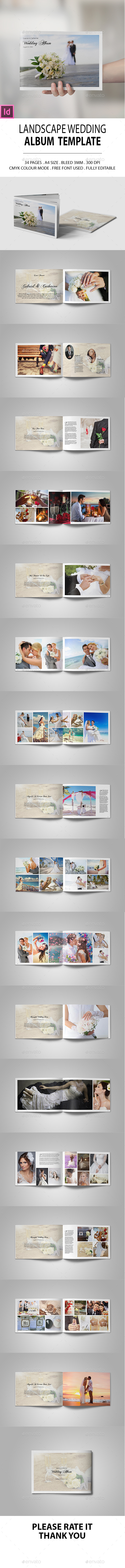 Landscape Wedding Album - Photo Albums Print Templates