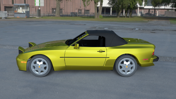 Porsche 944 Cabriolet with Interior HDRI - 3DOcean Item for Sale
