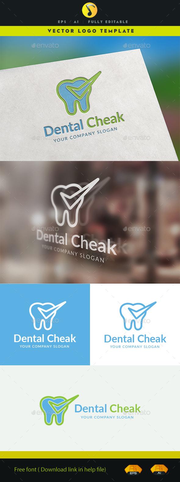 Dental Cheak - Symbols Logo Templates