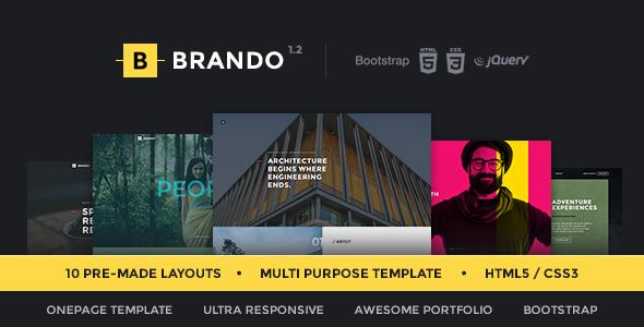 Brando Responsive & Multipurpose OnePage Template - Creative Site Templates