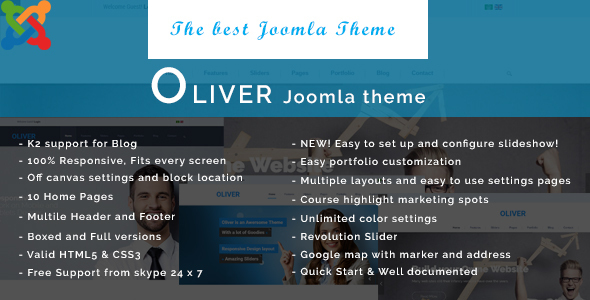 Oliver - Responsive Multipurpose Joomla Template - Corporate Joomla