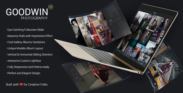 Photography & Video GoodWin WordPress Theme - Photography Creative