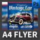 Vintage Cars Event Flyer Template - GraphicRiver Item for Sale