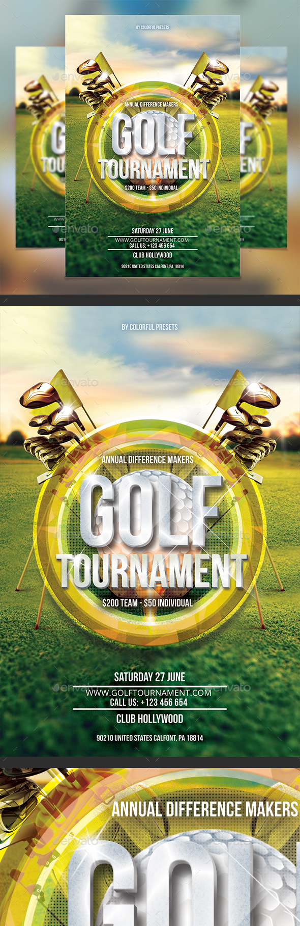 Golf Tournament Flyer Template   Sports Events