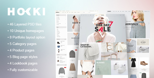 Hoki - eCommerce PSD Template - Retail PSD Templates