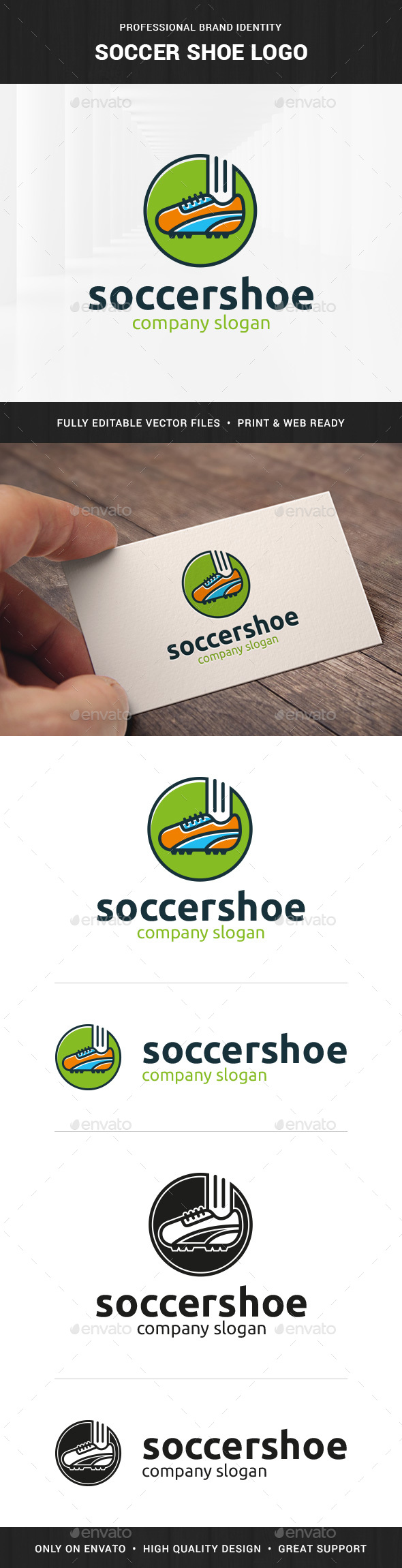 Soccer Shoe Logo Template - Objects Logo Templates