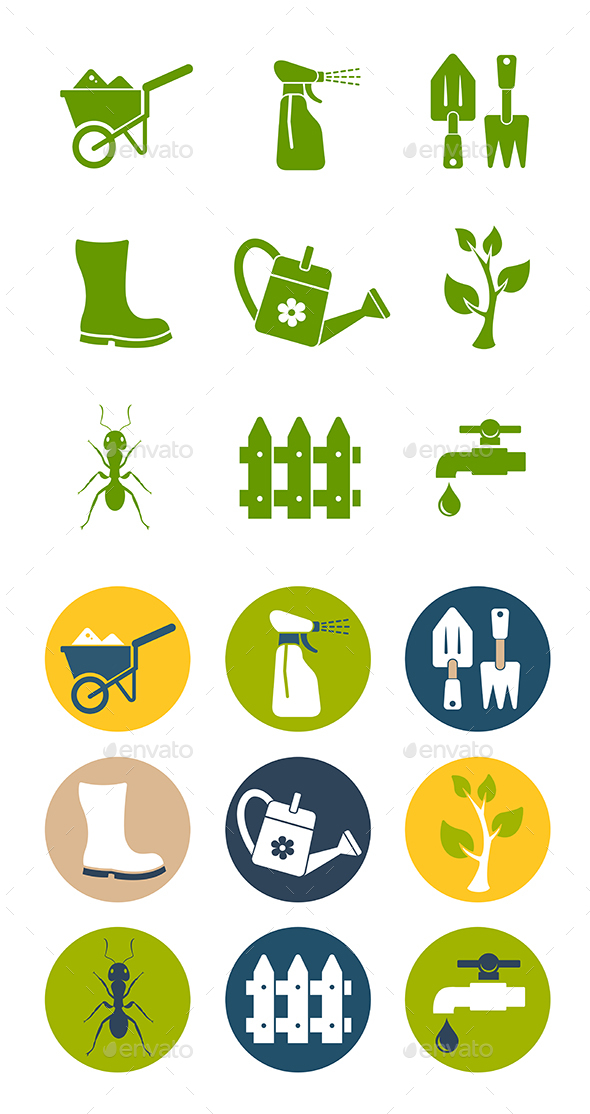 Gardening Icons Set - Miscellaneous Conceptual