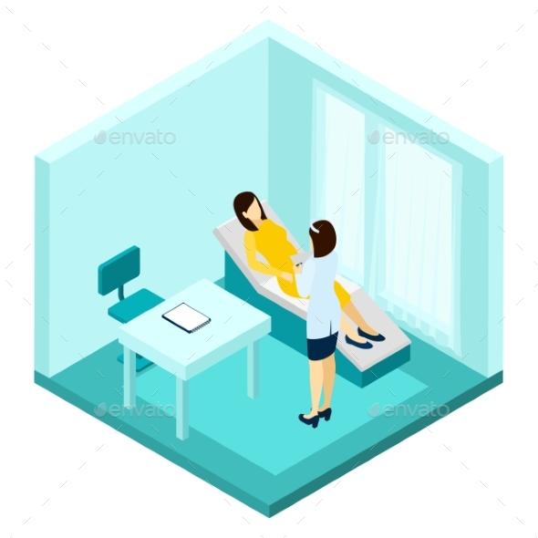 Pregnancy Consultation Illustration  - Health/Medicine Conceptual