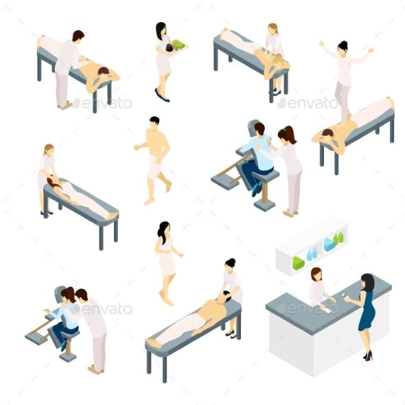Massage Icons Set  - Health/Medicine Conceptual