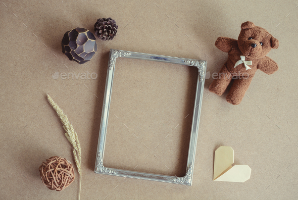 Blank picture frame decoration with copy space - Stock Photo - Images