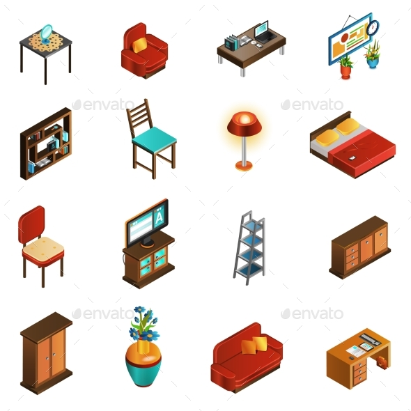 House Interior Icons Set  - Man-made Objects Objects