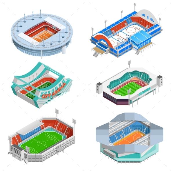 Stadium Icons Set  - Sports/Activity Conceptual