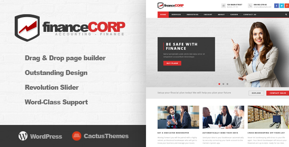 Finance Corp – Professional WordPress Theme for Corporates