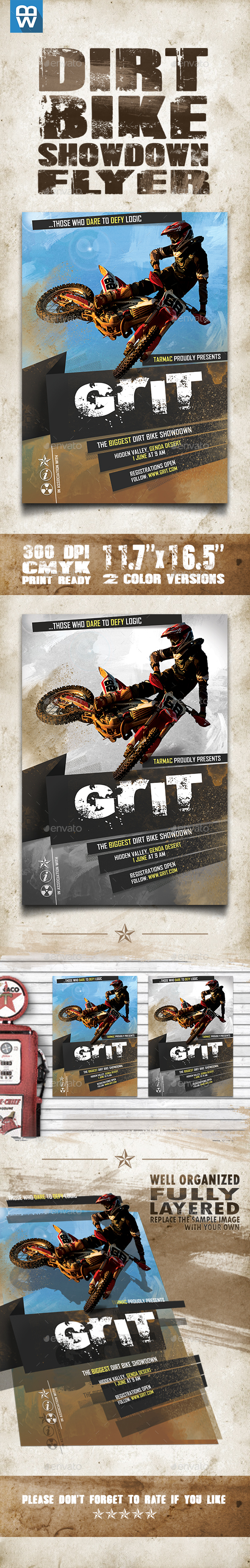 Dirt Bike Showdown Flyer - Sports Events