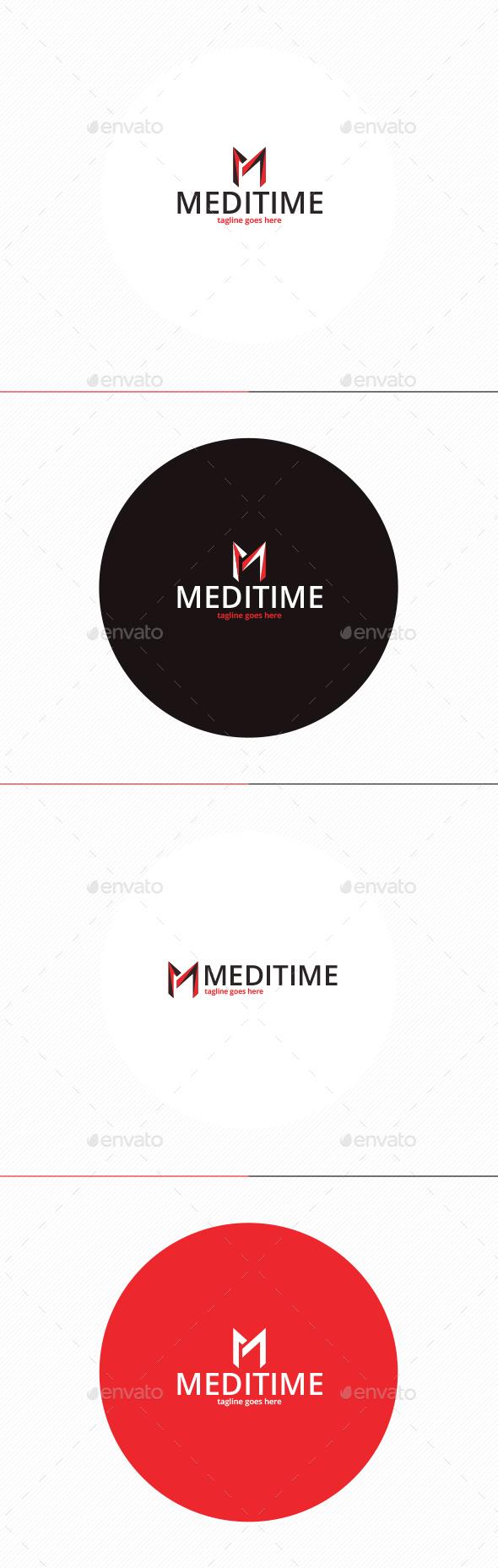 Medi Time logo • Letter M - Letters Logo Templates