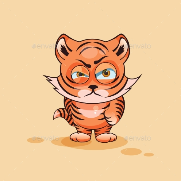 Tiger Cub Angry - Animals Characters