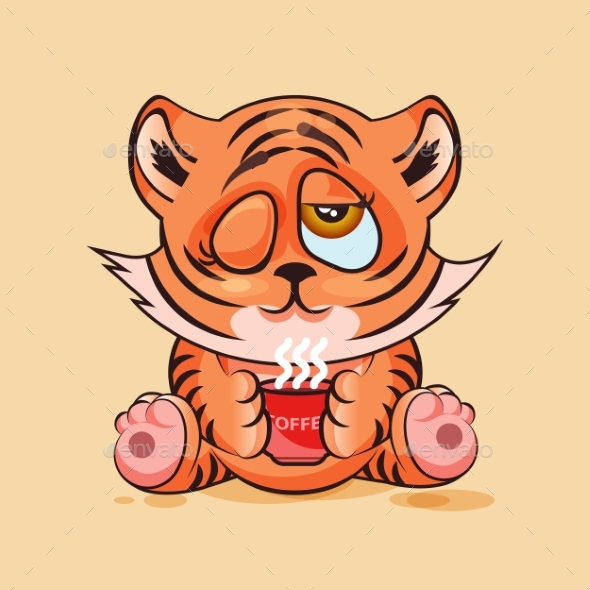 Tiger Cub Good Morning - Animals Characters
