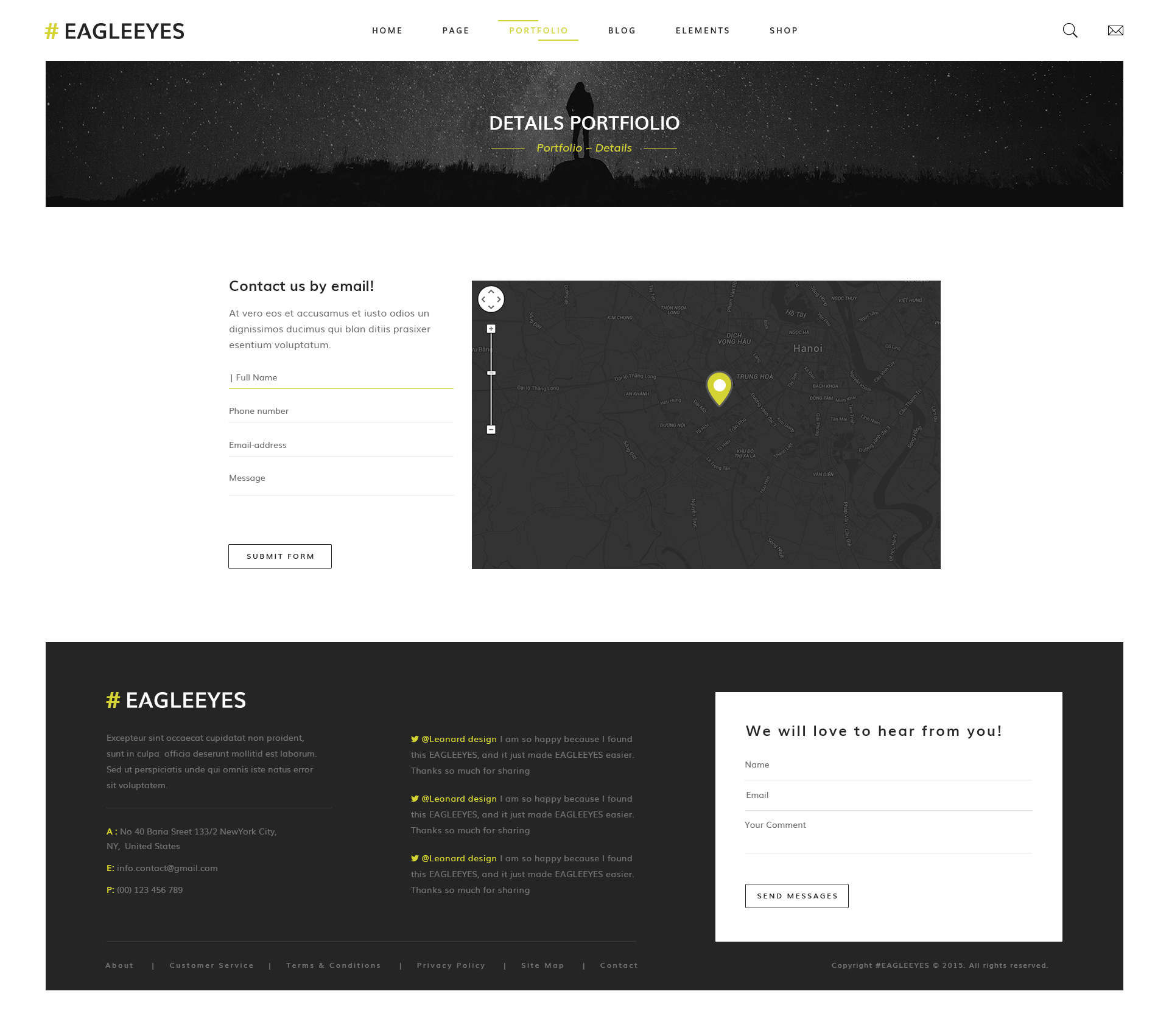 EAGLEEYES - Creative One Page PSD Template by HeadPassion | ThemeForest