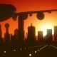 Dallas Skyline Sunrise Landing - VideoHive Item for Sale