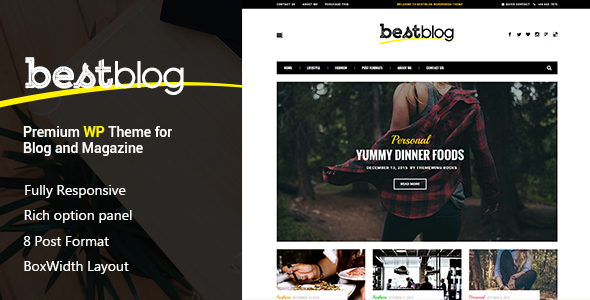 BestBlog - Responsive WordPress Blog Theme