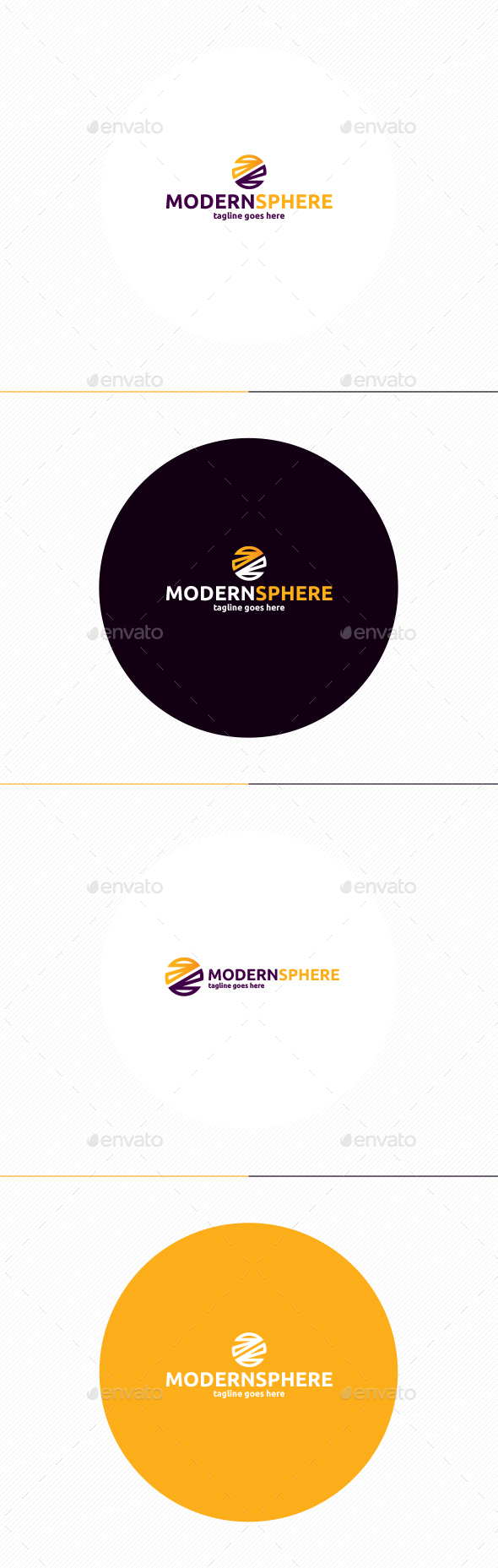 Modern Sphere Logo - Vector Abstract