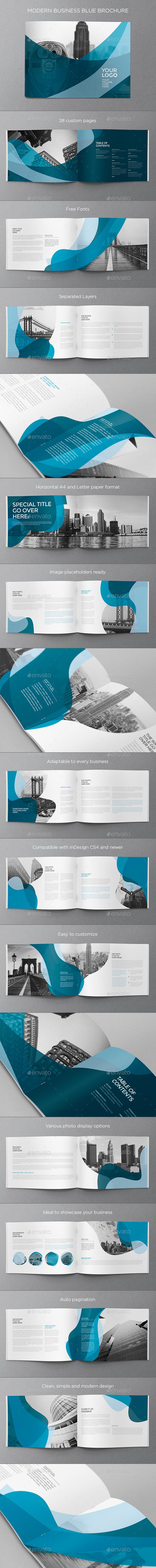 Modern Business Blue Brochure - Brochures Print Templates
