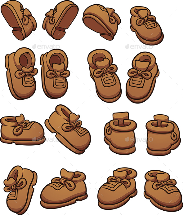 Cartoon Shoes - Man-made Objects Objects