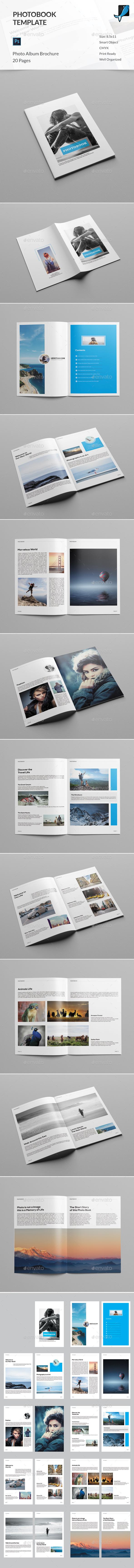 Photobook Template - Photo Albums Print Templates