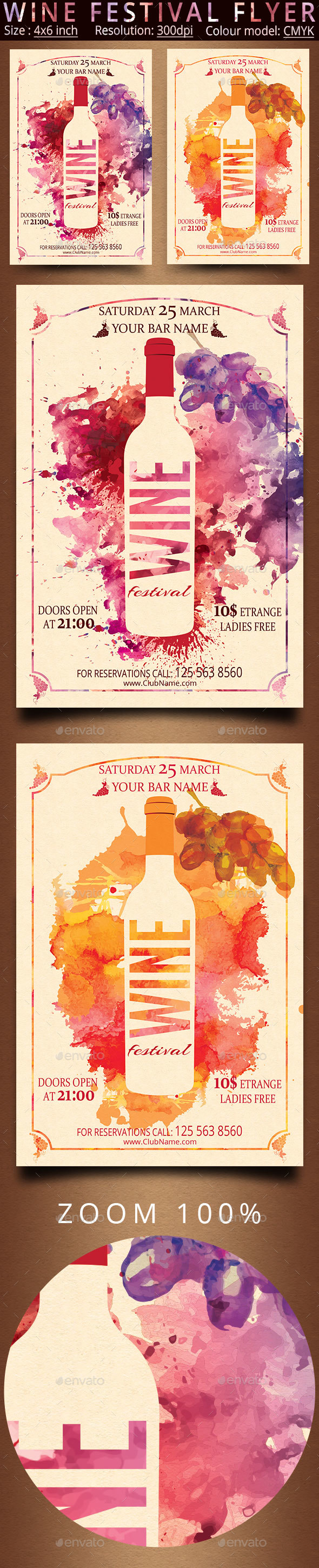Wine Festival Flyer - Events Flyers