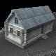 Wooden buildings - 3DOcean Item for Sale