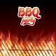 BBQ Party Text Grill and Burning Fire Flames - GraphicRiver Item for Sale
