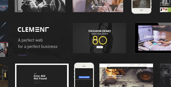 Clement - Multi-Purpose PSD Template - Portfolio Creative