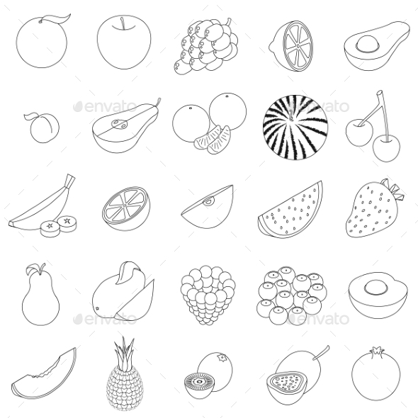Fruit Icons Set - Miscellaneous Icons