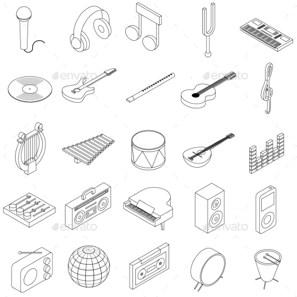 Music Icons Set - Miscellaneous Icons