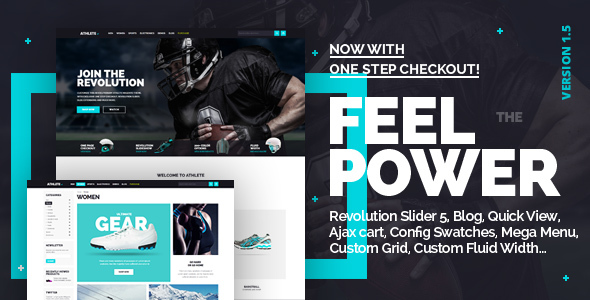 Athlete - Fluid Responsive Magento Theme - Magento eCommerce