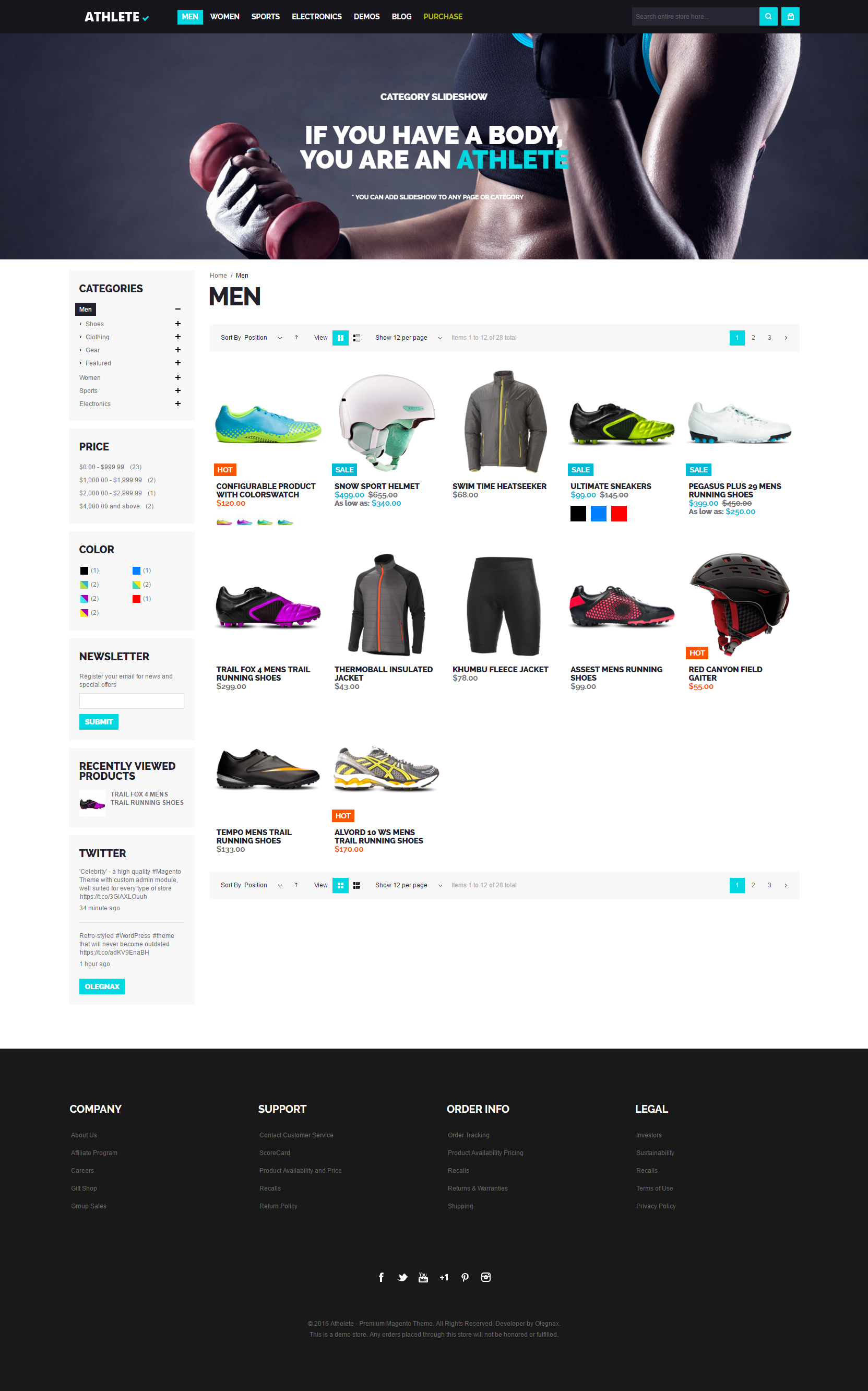 Athlete Fluid Responsive Magento Theme