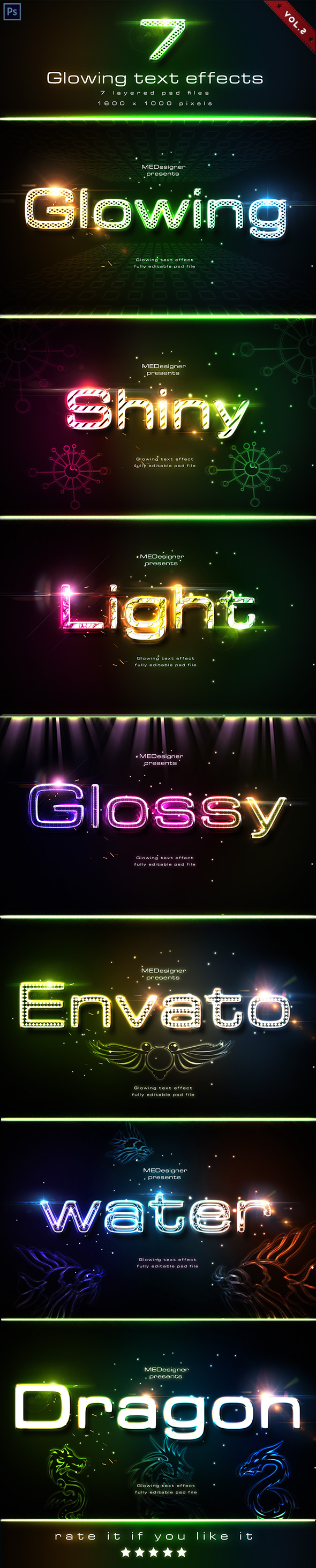Glowing Text Effects V.2 - Text Effects Actions