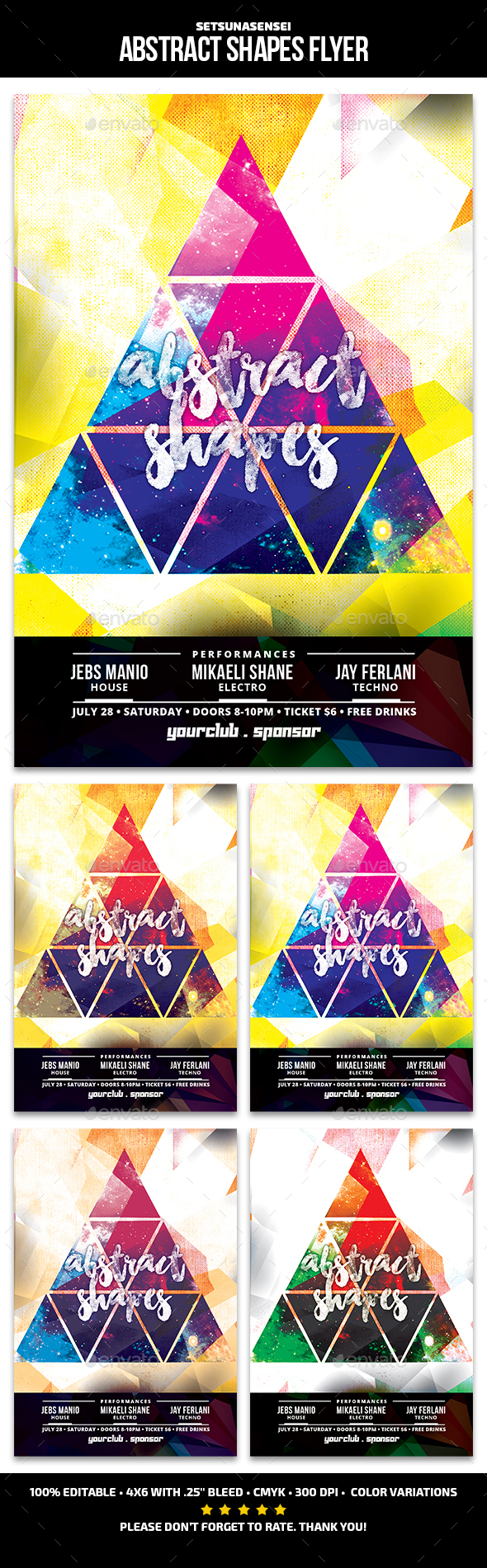 Abstract Shapes Flyer - Clubs & Parties Events